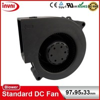 Standard SUNON Mini Ventilation Brushless 12V DC Small High Pressure Centrifugal Blower Fan 97x95x33mm (PF97331BX-B000-A99)