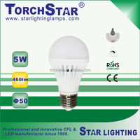 5W CE RoHS LED light , 40W incandescent light bulb replacement