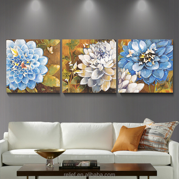Wholesale Handpainting Strange Flower Landscape Wall Painting for Decoration