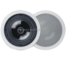 best price 2 ways hanging ceiling speakers , pa ceiling loudspeaker 80W for bacground music system