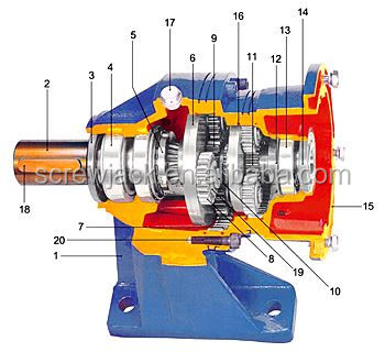 mechanical bevel gear reducer planetary elevator gear box