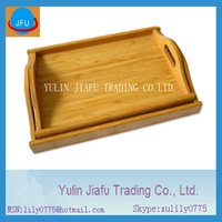2012 new item CAC Fair handmade rectangle service bamboo trays