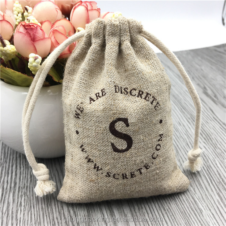 Wholesale Small Jute Burlap Gift Bags With Printing