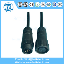 Customized Cable Length And Size Good Led 6 Pin Auto Connector