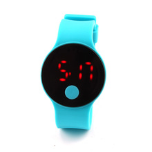 Wholesale mirror face led watches 2016 led light up watches with your own logo