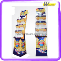 movie house hot sale free floor standing cardboard display shelf for popcorn