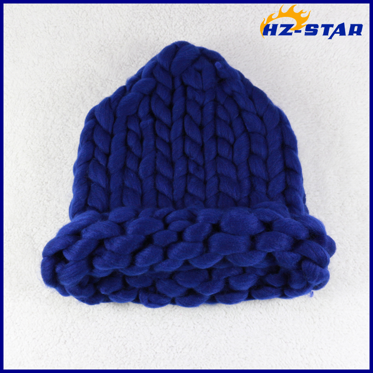 HZM-14307 winter hand ultra coarse bonnet thick line knitted crochet hat