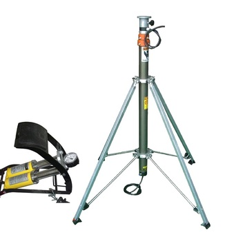 6 meter light weight portable foot pump tripod locking pneumatic 足球投注网 for meteorology use