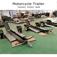 Folding Motorcycle Trailer with OEM Service