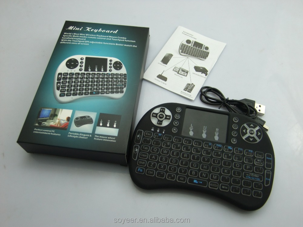Soyeer Mini I8 For Apple Wireless Keyboard Singer Tv Control Remote