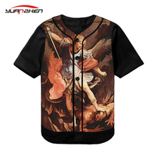OEM service wholesale promotional sublimation dry fit mesh baseball jersey