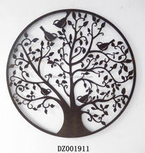 antique chinese decorative tree metal wall plaque