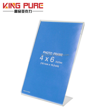"4x6"" Hot Sale Customized Acrylic Table Top Display Table Tent Menu Sign Holder"