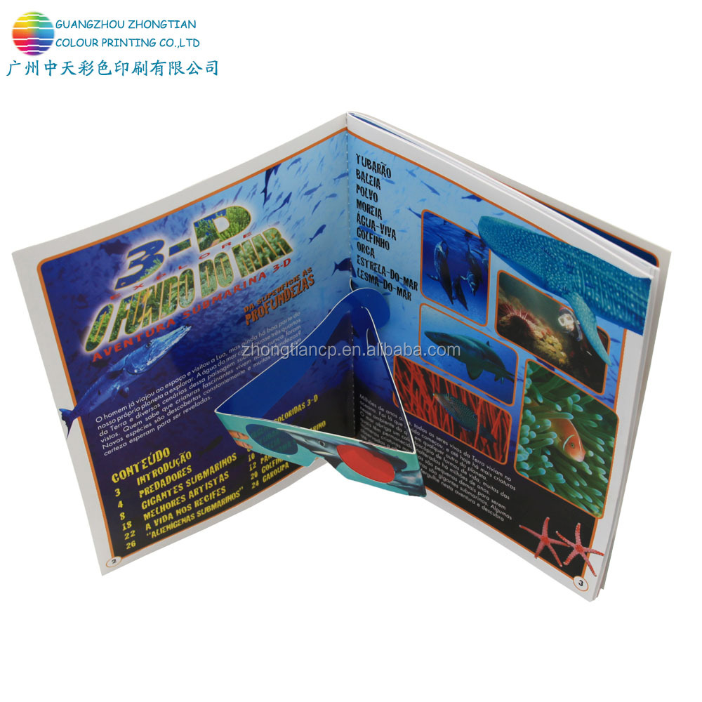 Three-dimensional printing soft cover 3D visual effect book