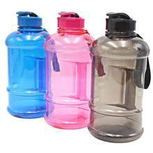 2.2L sports water bottle with handle with strap to the lid transparent PE BPA free big capacity GYM outdoor vehicle portable