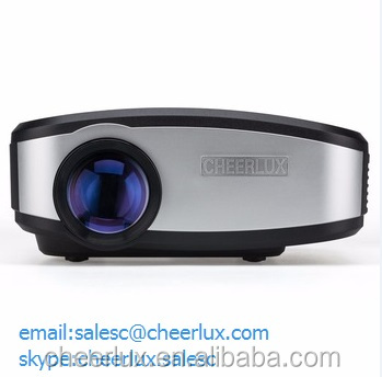cheerlux promotion!shen zhen shi projector mini projector for home use support 720p 1080p 3d HD projector