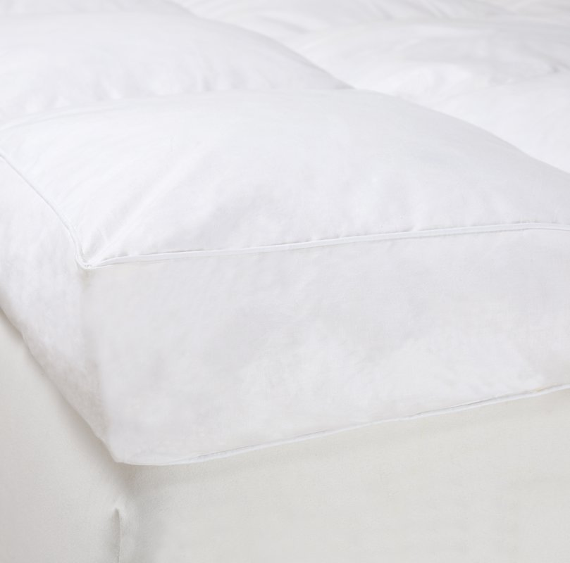 Wholesale Filled with Goose Feather Down Odourless White Quilted Mattress Pad - Jozy Mattress | Jozy.net