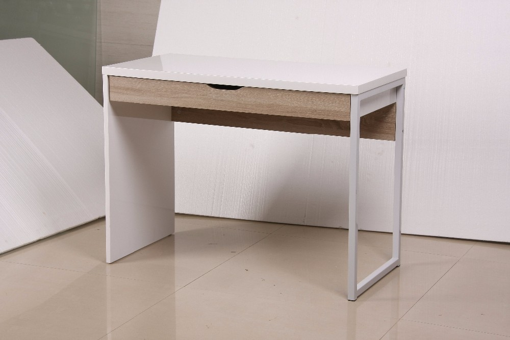 office desk with white MDF E1 board top