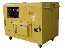 Strong power air cooling 10kw portable silent diesel generator set for sale