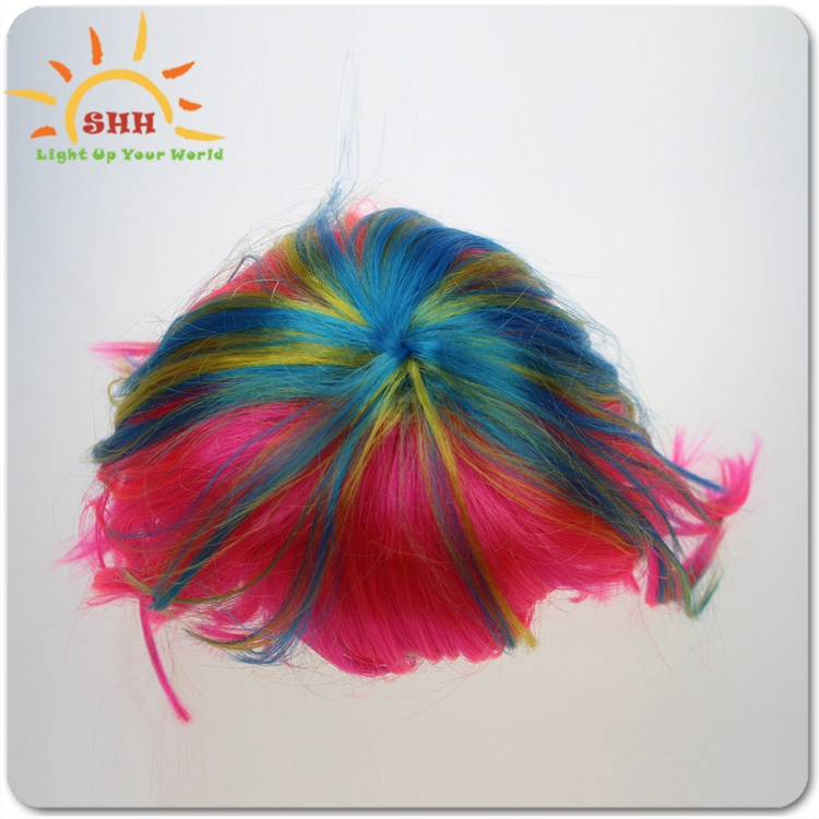 Glow Fiber LED Hair Clip Flash Light Wigs
