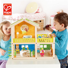 Newest top sell brand pretend play toys kids diy wooden doll house miniature