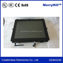 Open Frame Infrared Touch Screen 15 Inch WIFI LCD Monitor Flush Mount For Kiosks