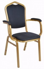 cheap stacking fabric banquet chairs with arms