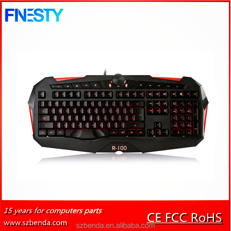 2017 Fashion and Latest Computer Game Keyboard Wired KBL203BC