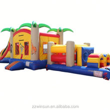 Inflatable Jungle Bounce House and Obstacle Course Combo