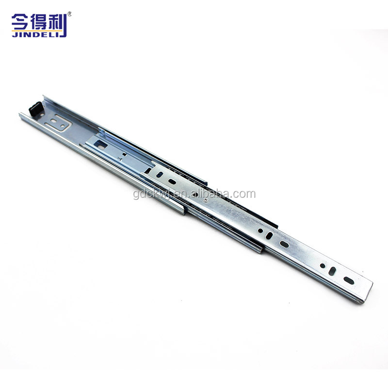 guangzhou OEM 3-fold ball bearing kitchen cabinet funiture desk drawer channel soft close drawer slides