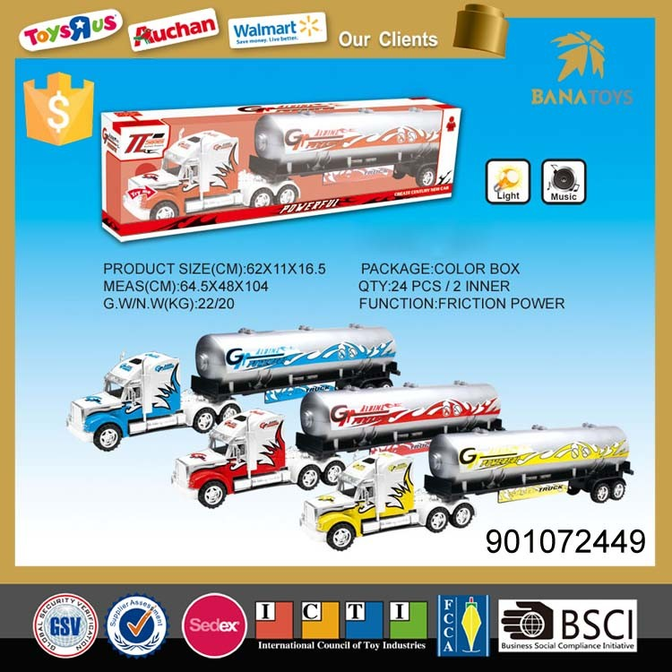 Powerful diecast model toy tanker truck