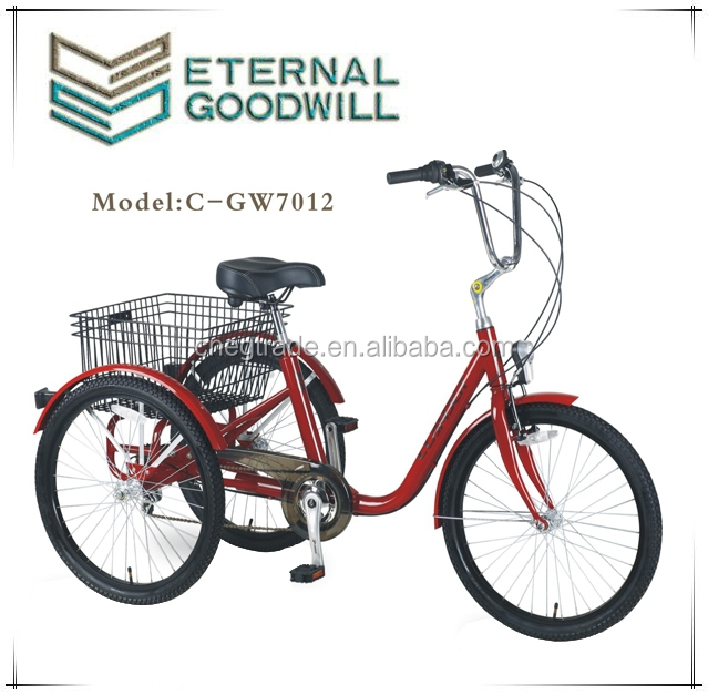 three wheel Adult Six speeds Tricycle GW7012-6S