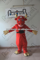 hot sale gold horn and shoes bull mascot costumes NO.4402