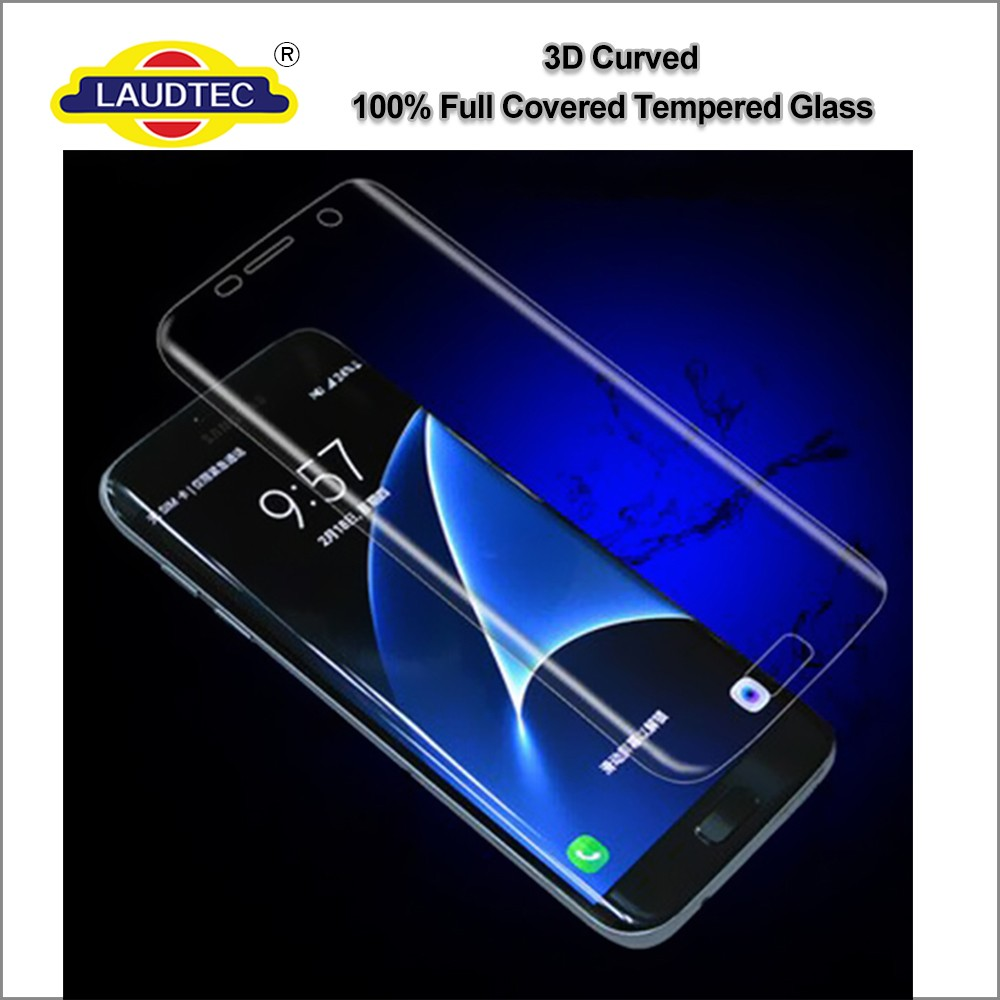 3D full curved 9H tempered glass screen protector anti-fingerprint for Samsung Galaxy S7 edge plus