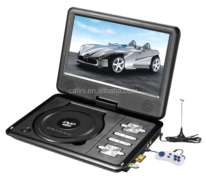 Fashional Design 7 Inch Portable DVD Player With TV Tuner FM USB