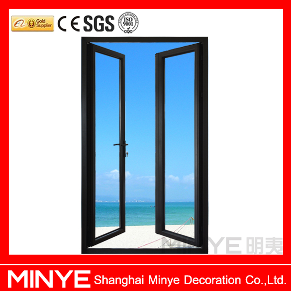 cheap price high quality china supplier aluminum used front doors with fly screen casement doors