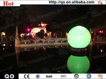 High quality water decorations inflatable floating led illuminated swimming pool ball light