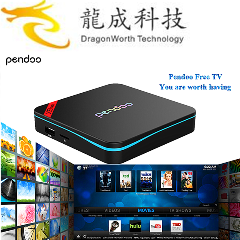 2017 google play store android tv box 2.4G/5.8G WIFI Pendoo x9 pro S912 2G/16G android 6.0 marshmallow tv box
