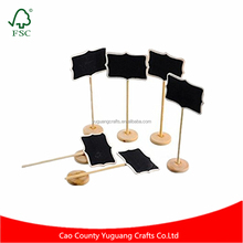 12pcs Mini Rectangle Blackboard Chalkboard Wedding Party Table Numbers Place Card Favor Tag Plant Marker with Stand