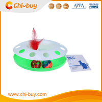 Chi-buy Best Plastic Green Cat Toy, Play Base with Balls Cat toys Free Shipping on order 49usd