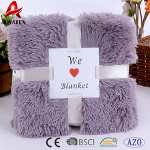 fashion pattern pv long pile fake fur throw micromink blanket