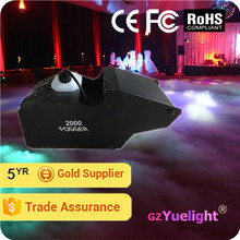 Yuelight 2000W led great effect DMX512 thick haze machine