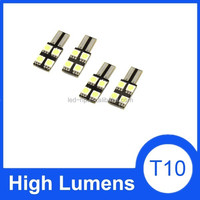 2pcs T10 Canbus White 5050 SMD 4 LED Auto Dashboard Light Lamp with Car Cleaning Cloth