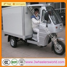 CCC,ISO Closed Body Type 200cc Truck Cargo Tricycle with Cabin/Three Wheel Motorcycle with Aluminum Box/Cargo Scooter Tricycle
