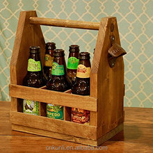 Handmade Wooden Beer Carrier / Caddy / Tote Six Pack Holder - Personalization Available