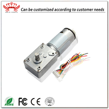 Customized Low speed miniature 24v dc worm gear motor with encoder