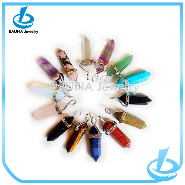 Latest style top selling colorful punk glass pencil necklace in yiwu