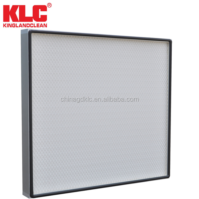 Mini-pleat HEPA filter with cardboard/paper frame