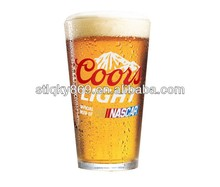 Glass Decorative Beer Mug Cup Nascar Coors Light Pint Glass Clear glass mug for beer