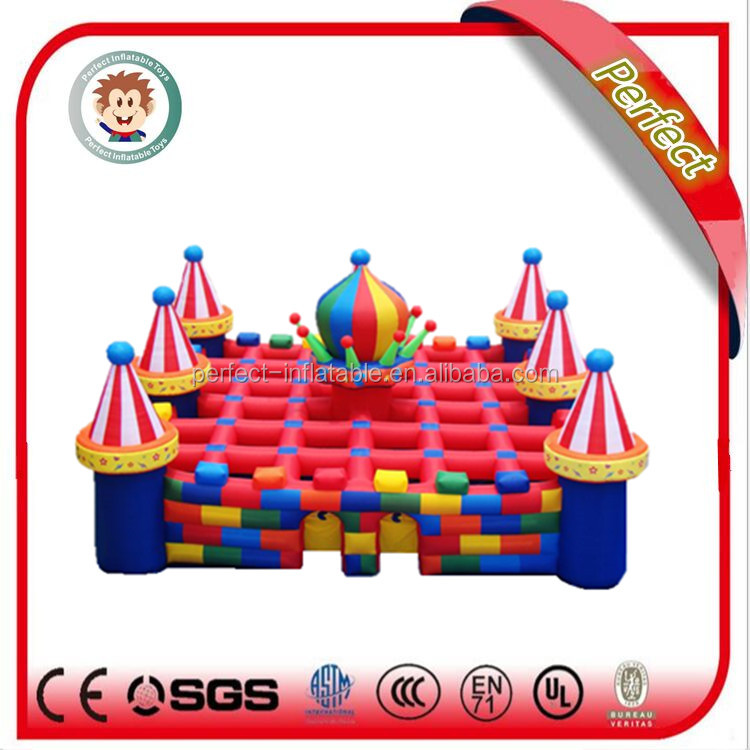giant outdoor sports games, inflatable maze for sale